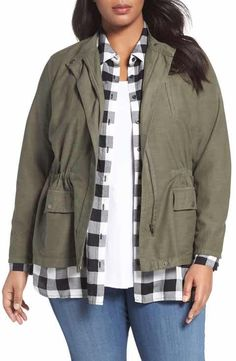 Sejour Relaxed Utility Jacket (Plus Size)