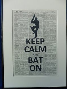 Cricket Player Keep Calm and Bat On Silhouette by DecorisDesigns