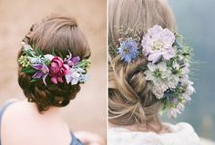 Flowers bun for wedding hairstyle | How to Throw the Perfect Summer Wedding | http://www.bridestory.com/blog/how-to-throw-the-perfect-summer-wedding