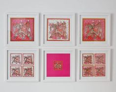 """Pictures of Hermes scarves from the book, """"The Hermes Scarf.""""  Sooooo clever!"""