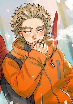 Anime:Boku no Hero Academia Character:Hawks Artist: Boku No Hero Academia, My Hero Academia Manga, Hero Academia Characters, Anime Characters, Anime Lindo, Anime Boyfriend, Cute Anime Guys, Anime Boys, Bald Eagle