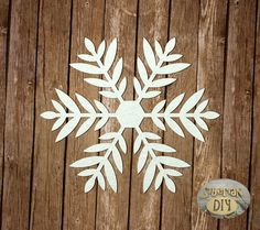 "Laser Cut Chipboard ""Snowflake [12]"" by SiberianDIYcraftsArt on Etsy"