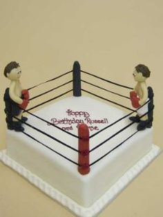 this cake for my hubby but have undertaker standing in the ring