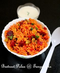 CONCOCTIONS OF A COOKAHOLIC !!!: Beetroot Pulao/Beets Pulav