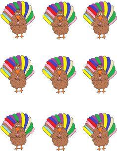 Turkey Eating Sucker Template.jpg (1019×1319)