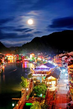 The Fenghuang Old Town in China.