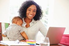 Working from home as a new mommy via Wahm.com #GreatVirtualWks #WorkfromHome #WAHM