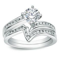 Auriya 14k Gold 1ct TDW Round Diamond Bridal Ring Set (J-K, I1-I2) (Yellow Gold - Size 5), Women's, White H-I