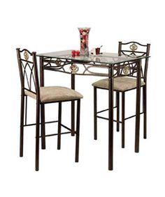 @Overstock - Complete your home decor with this glass-top Crown bistro set  Fashionable furniture features decorative golden molding  Stylish dining room set includes a table and two stoolshttp://www.overstock.com/Home-Garden/Glass-top-Crown-Bistro-Set/2918679/product.html?CID=214117 $154.99