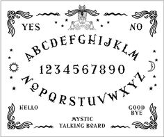 Ouija Board Hand Embroidery Sampler