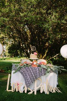 modern wedding inspiration - photo by Joe and Kathrina Photography http://ruffledblog.com/romantic-peach-wedding-at-la-arboretum