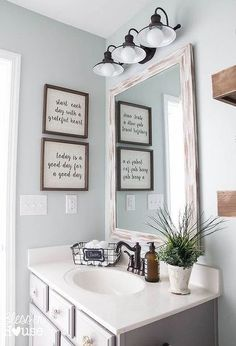 Home Remodel Plans modern farmhouse bathroom makeover bathroom ideas home decor wall decor.Home Remodel Plans modern farmhouse bathroom makeover bathroom ideas home decor wall decor Decor Scandinavian, Modern Farmhouse Bathroom, Kitchen Modern, Bathroom Interior, Bathroom Furniture, Nice Furniture, Furniture Catalog, Bathroom Flooring, Furniture Makeover