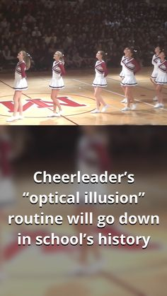 Entertainment Discover Cheerleaders optical illusion routine will go down in schools history Cool Illusions, Optical Illusions, Funny Jokes, Hilarious, Fun Funny, Funny Life, Funny Tweets, Homecoming Week, Rare Videos