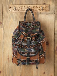 Free People Sari Pattern Backpack, $178.00