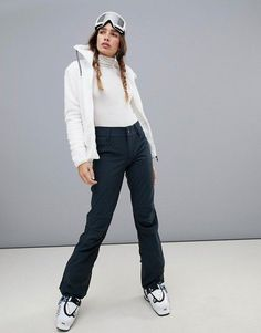 Discover ski and snowboard clothing, accessories and equipment for women at ASOS. Choose from a range of women's ski jackets, goggles and pants. Best Womens Ski Pants, Best Ski Pants, Pants For Women, Women's Ski Pants, Womens Snowboard Jacket, Snowboard Girl, Snowboard Apparel, Ski Fashion, Fashion Pants