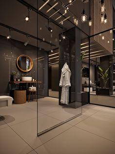 Bathroom Showroom Design 2 on Behance Luxury Bedroom Design, Modern Interior Design, Luxury Interior, Design Interiors, Bathroom Showrooms, Showroom Design, Dream Home Design, Luxurious Bedrooms, Luxury Homes