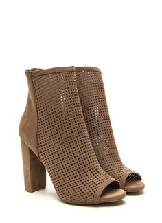 Don't second guess your decisions... These chunky booties are definitely the perfect choice! #booties #perforated #chunky #chic #gojane