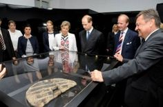 The royal couple visited the Ljubljana City Museum to see the world's oldest ever discovered wooden wheel. The artefact dated 3,200 BC was found at an archaeological site some 20 kilometres south-west of Ljubljana (Photo: British Embassy). MY POINT EXACTLY