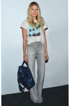 Digging the high waisted flare jeans at the moment...