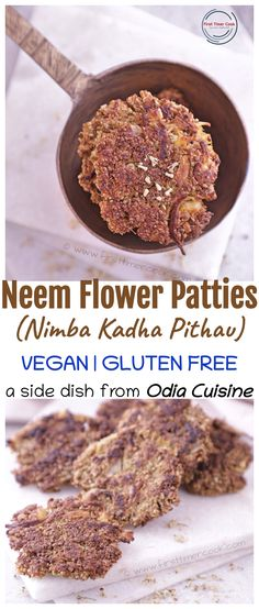 These are some vegetarian patties using the healthy and nutritious neem flowers (nimba kadha) from Odia cuisine. Completely vegan and gluten free these are. Use of mustard oil enhances the overall flavor in the patties / pithau. #Vegetarian #OdiaCuisine #Patties #NimbaKadha #NeemFlower #Vegan #GlutenFree #SideDish #MustardOil #LowOilRecipe Unique Recipes, Indian Food Recipes, Vegan Breakfast Recipes, Vegetarian Recipes, Good Food, Yummy Food, Delicious Recipes, Vegetarian Platter, Indian Curry