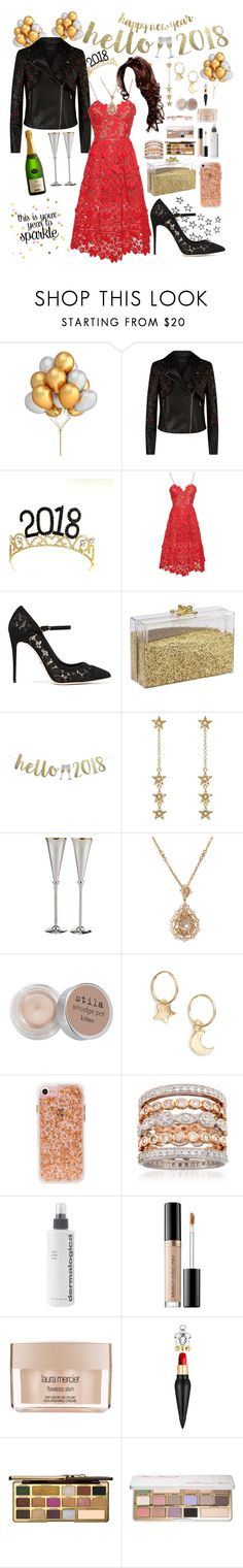 """""""New Years Eve   Year in Review (RTD Please)"""" by cupkatyk ❤ liked on Polyvore featuring Elie Saab, self-portrait, Dolce&Gabbana, Jennifer Meyer Jewelry, Carrs, Nam Cho, Stila, Britt Bolton, Ross-Simons and Dermalogica"""