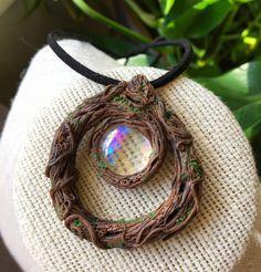 Woodland Wicca Crystal Necklace Witch Fairy by GaiasMysticGems