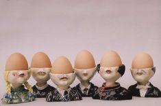 Working egg cups - Sue Whimster Ceramics Ceramic Pottery, Ceramic Art, Ceramic Egg Holder, Vintage Egg Cups, Egg Coddler, Pottery Classes, Ceramic Design, Sculpture, Clay Art