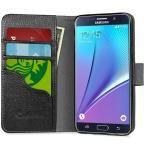 i-Blason Slim Leather Wallet Case for Galaxy Note 5, Black