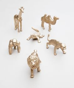 It seems as if everyone is obsessed with GOLD these days, especially gold painted toy animals… and of course we are as well! Who wouldn't be, I mean aren't these guys just to ...
