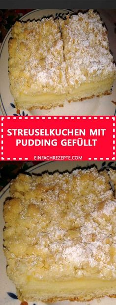 Crumble cake filled with pudding- Streuselkuchen mit Pudding gefüllt Crumble cake filled with pudding - Easy Smoothie Recipes, Easy Cookie Recipes, Healthy Dessert Recipes, Cake Recipes, Snack Recipes, Smoothie Menu, Healthy Smoothies, Easy Vanilla Cake Recipe, Chocolate Cake Recipe Easy