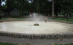 Phelps Park Fountain-  enjoy the playground and cool off by the fountain.