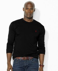 Polo Ralph Lauren Big and Tall Shirt, Pocketed Crew Neck Shirt - Mens Big & Tall - Macy's - Yes please!