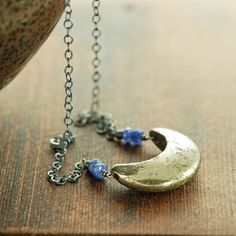 crescent moon necklace - Google Search