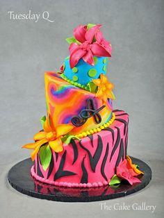 Wedding Cake Photos | The Cake Gallery Omaha. colorful modern cake