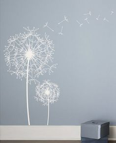 Dandelion Wall Sticker    http://dalidecals.com/Dandelion-Blowing-in-the-Wind-Wall-Decal-Sticker-Graphic.html