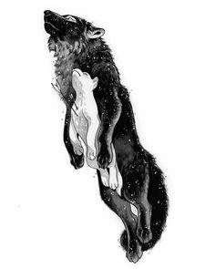 Art of Devin Elle Kurtz Artwork Lobo, Wolf Artwork, Cute Animal Drawings, Animal Sketches, Cute Drawings, Images Viking, Werewolf Art, Wolf Tattoo Design, Tattoo Designs