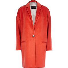 Red oversized coat - coats / jackets - sale - women