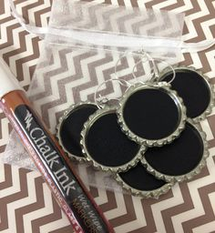 Chalkboard Wine Charms - Drink Charms, Hostess Gift, Corporate Event, Personalized Wine Charms and 1 EXTRA FINE Chalk Marker on Etsy, $15.50