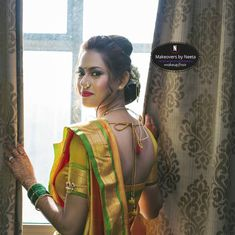 Image may contain: one or more people and people standing Beautiful Girl Image, Beautiful Bride, Beauty Full Girl, Beauty Women, Real Beauty, Marathi Saree, Marathi Bride, Kajal Agarwal Saree, Girl Number For Friendship