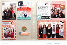 Project Life - CHA by debduty at @Studio_Calico - clear Project Life pocket #SCofficehours