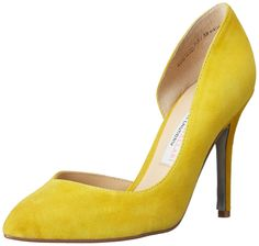 Chinese Laundry Kristin Cavallari Women's Copertina Kid Sue Dress Pump, Yellow, 6 M US
