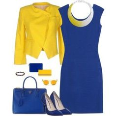 Royal Blue and Yellow - Work Wear 2