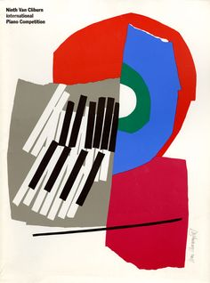 9th Van Cliburn International Piano Competition Posters (1993). Design by Ivan Chermayeff.