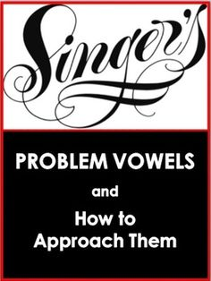 Problem Vowels when Singing ♫ This is a FOUR page PDF file that all singers will find very useful. ♫ It lists alternative vowel shapes to sing when certain notes/words prove difficult.♫ Great as a handout for Vocal Lessons, Singing Lessons, Singing Tips, Music Lessons, Learn Singing, Singing Quotes, Intj, Middle School Choir, High School