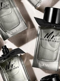 Introducing Mr. Burberry, the new fragrance for men. Inspired by the black trench coat, the bottle is available to monogram with your initials