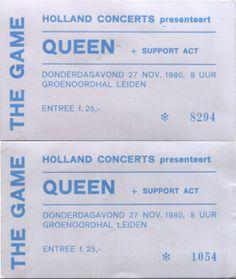 Queen twee keer live mogen zien in de Groenoordhallen in leiden. Kaartjes vor 25 hollandse florijnen. Was een vermogen!