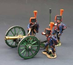 Napoleon's Grande Armee NA064 French Guard Artillery set - Made by King and Country Military Miniatures and Models. Factory made, hand assembled, painted and boxed in a padded decorative box. Excellent gift for the enthusiast.