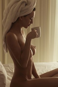 Opinion you Women naked with coffee cup