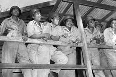 28 Badass Historic Pictures Of Women During WWII.  ettmann / Bettmann Archive A group of American nurses lean against a porch rail while awaiting their turn for morning exercises in 1944. This group was schedule for deployment to advanced posts in the Pacific theater soon after this picture was taken.