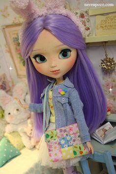 "keerakeera: ""Custom Pullip doll BUBBI LAVANDA :3 !! http://www.ebay.com/itm/331354543553 """